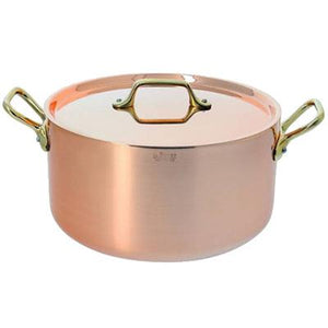 De Buyer INOCUIVRE Copper Stainless Steel Stew Pot With Lid