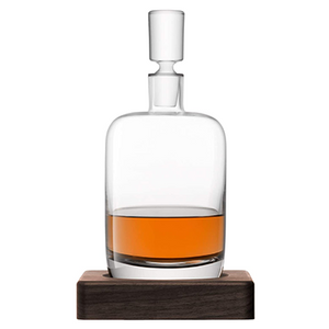 LSA Renfrew Whiskey Decanter With Walnut Base