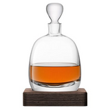LSA Islay Whiskey Decanter With Walnut Base