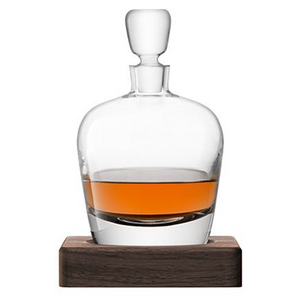 LSA Arran Whiskey Decanter With Walnut Base