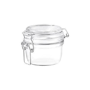 Bormioli Rocco Fido Round Glass Jar, Lock Cover