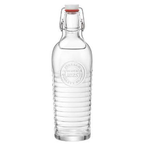 Bormioli Rocco Officina Glass Bottle With Cap, Clear