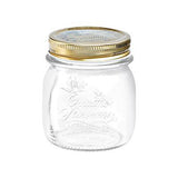 Bormioli Rocco Quattro Stagioni Glass Jar, Gold Screw Cover