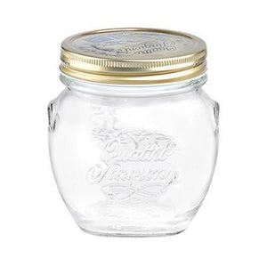 Bormioli Rocco Quattro Stagioni Amphora Glass Jar, Gold Screw Cover