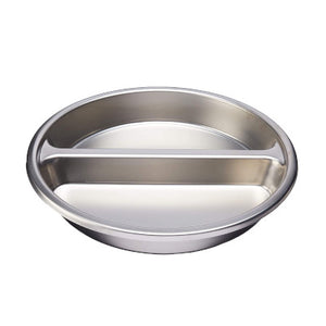 Gastro Stainless Steel Round Divided Food Insert Pan, 6ltr