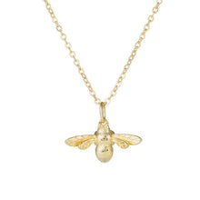 Load image into Gallery viewer, Gold Bee Necklace