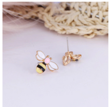 Load image into Gallery viewer, Wild Bee Stud Earrings