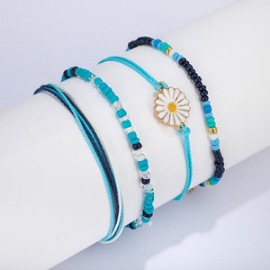 4 PC Blue Sunflower Set
