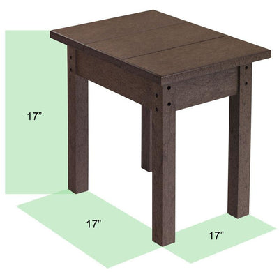 C.R. Plastics Rectangular Muskoka Side Table