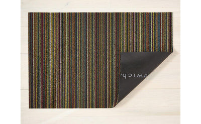 Chilewich Indoor/Outdoor Tufted Shag Mat Skinny Stripe Bright Multi