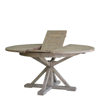 Irish Coast Round Extension Dining Table, Sundried
