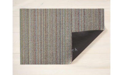 Chilewich Indoor/Outdoor Tufted Shag Mat Skinny Stripe Soft Multi
