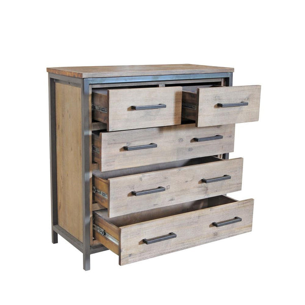 Moss Reclaimed Irondale 5 Drawer Dresser