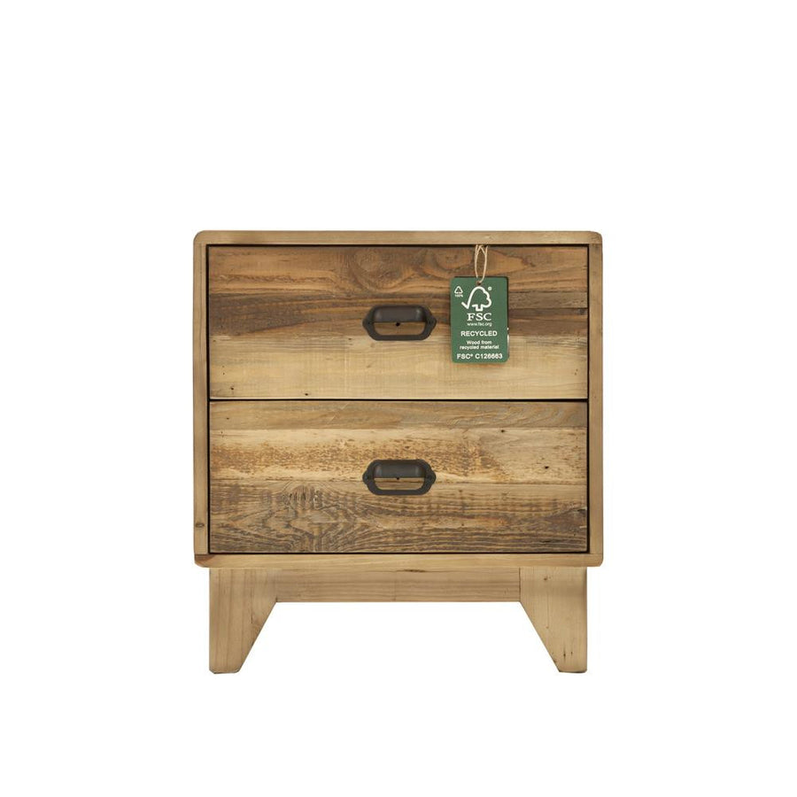 Moss Reclaimed Campestre Modern Bedside Table