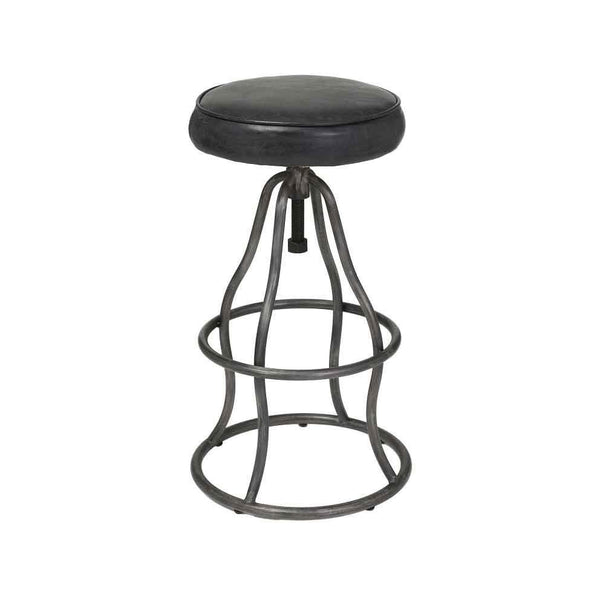 Bowie Bar Stool, Distressed Black