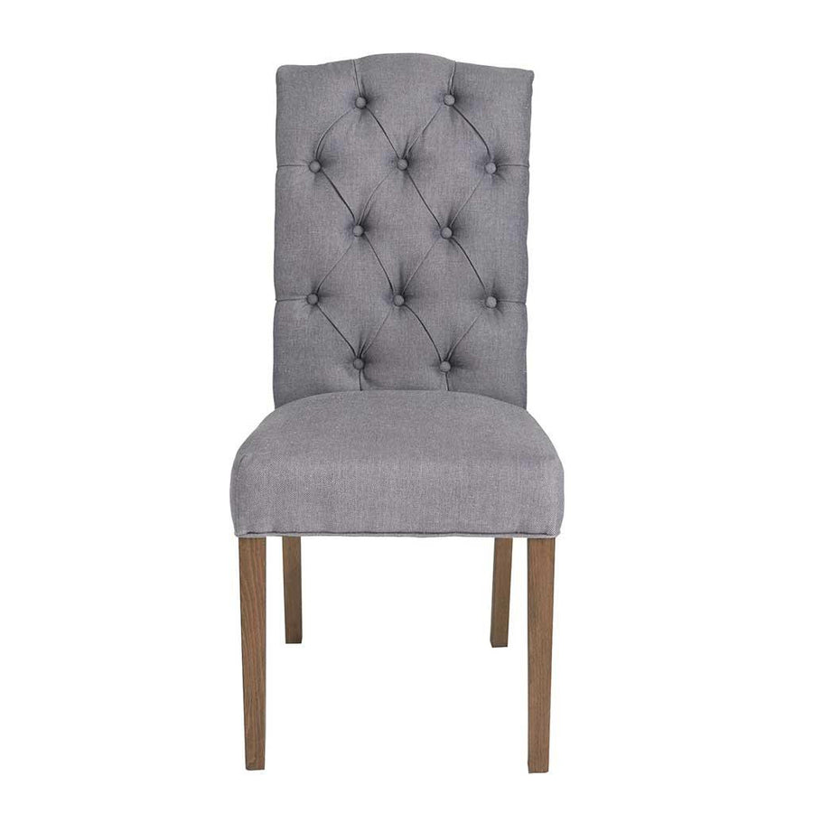 Chester Dining Chair, Dark Grey Twill