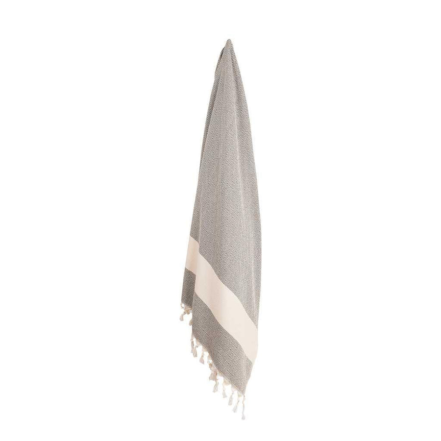 Pokoloko Diamond Turkish Towel, Slate