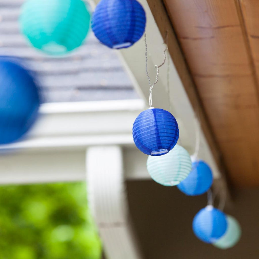 Allsop Home & Garden Soji Solar String Lights, Blue