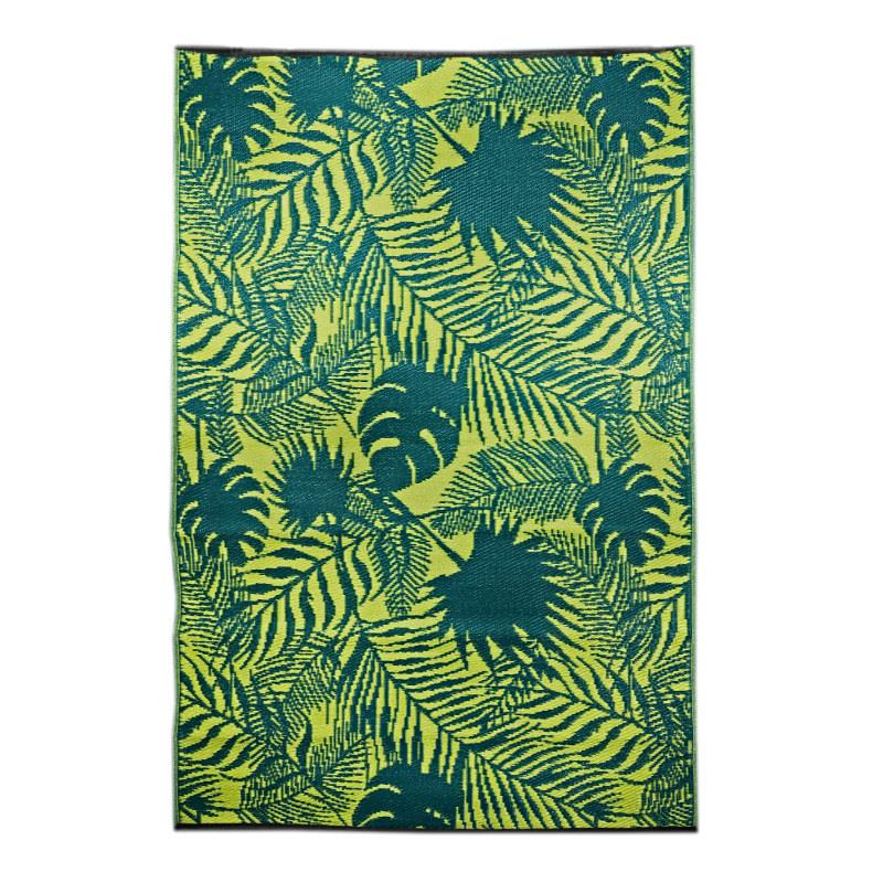 Outdoor Mat - Green Leaves - 4 x 6