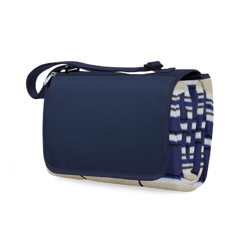 Blue Stripe Blanket Tote
