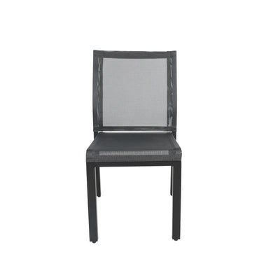 Skye Outdoor Side Chair, Black
