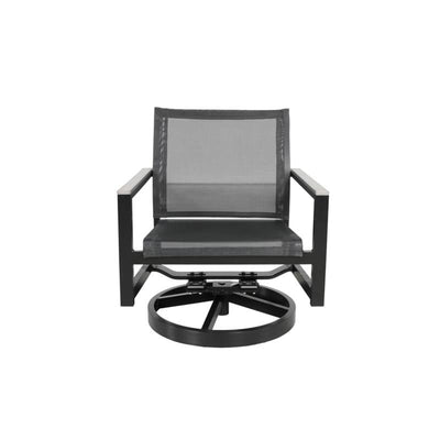 Skye Outdoor Lounge Swivel Rocker, Black