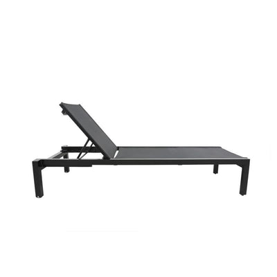 Skye Outdoor Chaise Lounge, Black