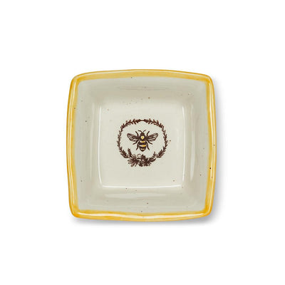 Bee Crest Square Dish