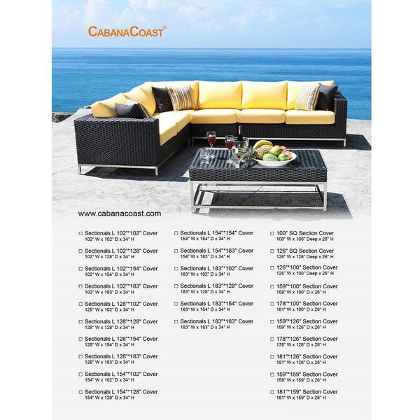 "Sectional Cover - 128"" x 128"" x 34"""