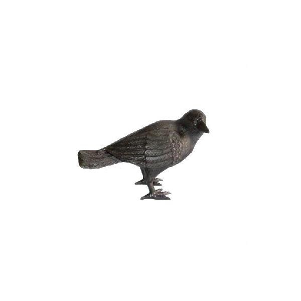 Cast Iron Crow with Head to Side - Large