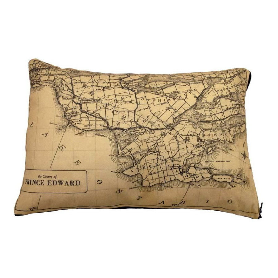 Prince Edward County Map Pillow