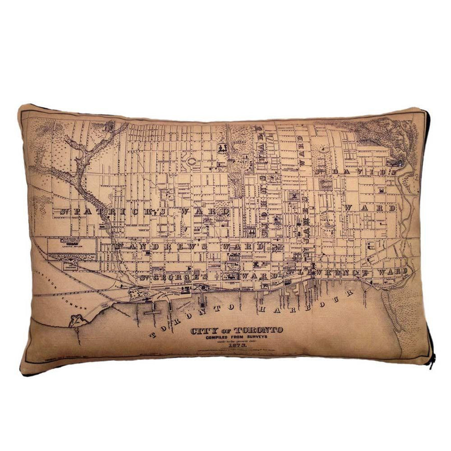Toronto Map Pillow