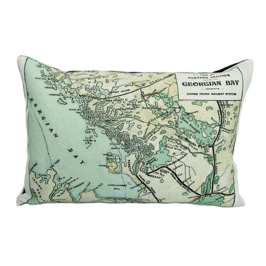 Georgian Bay Map Pillow