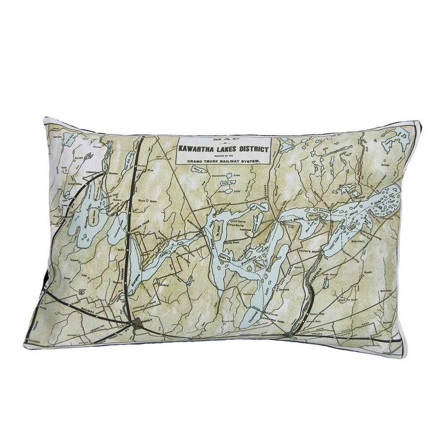 Kawartha Lakes Map Pillow
