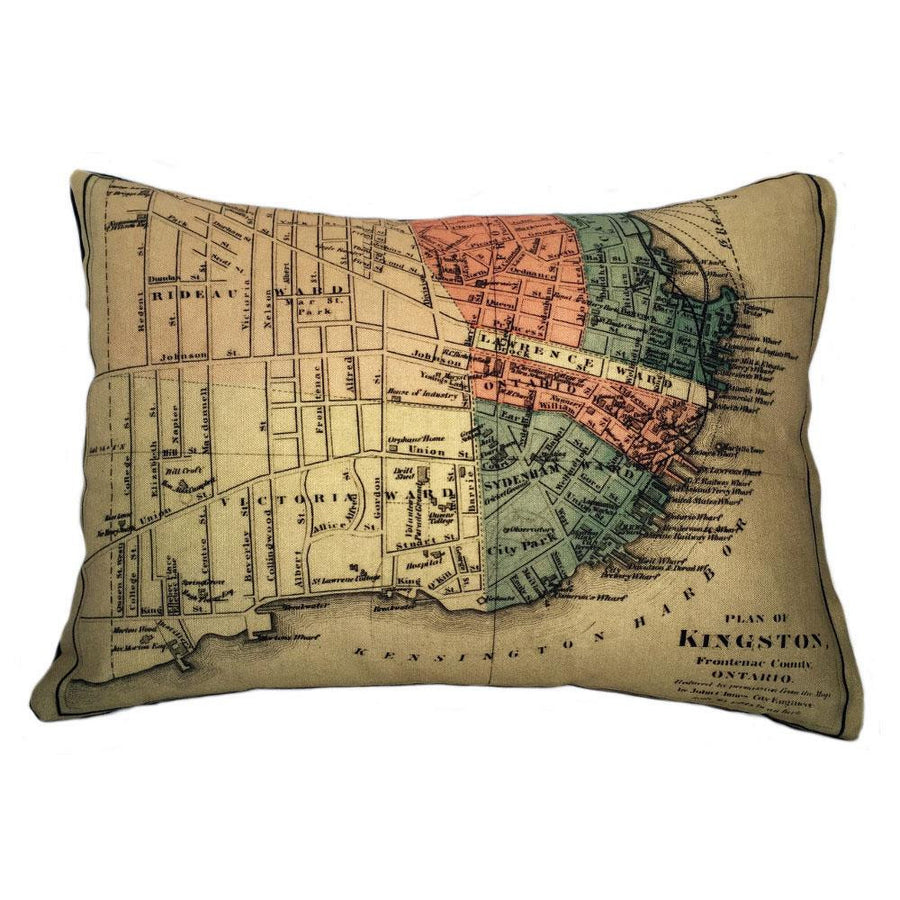 Kingston Map Pillow