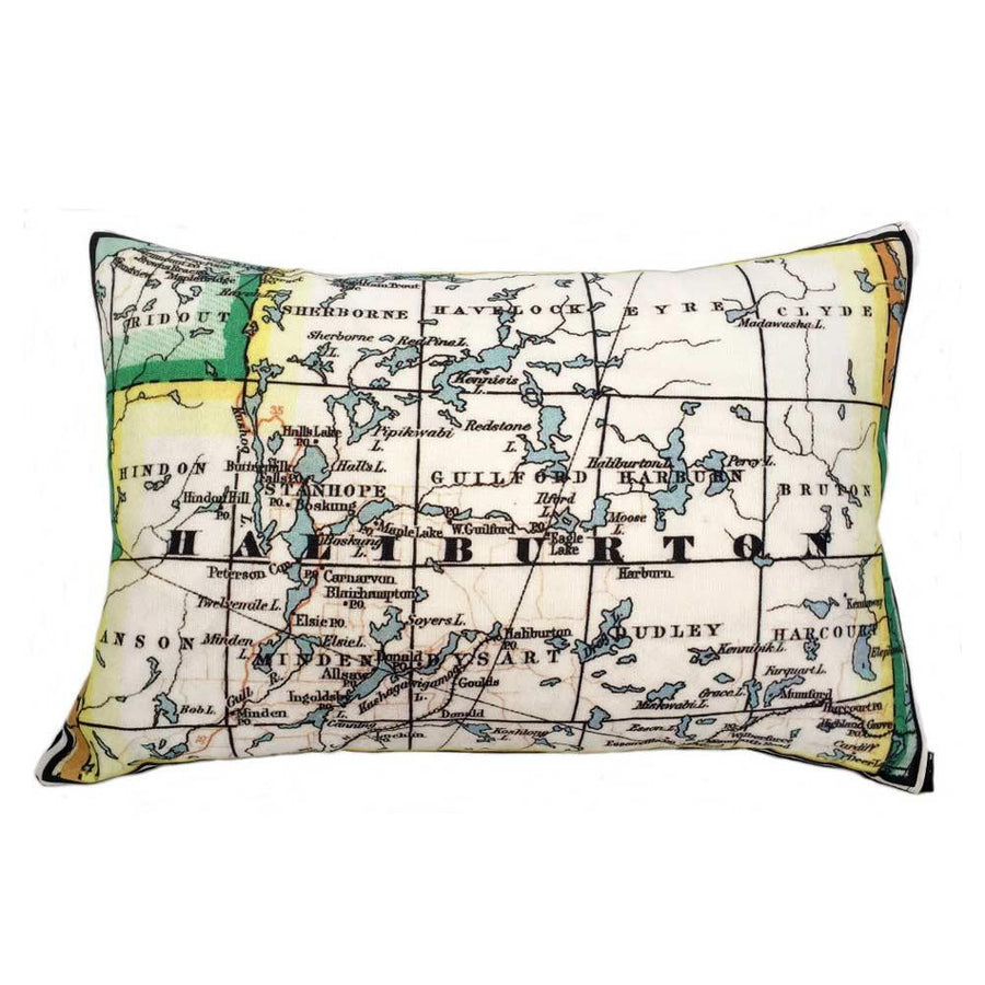 Haliburton Map Pillow