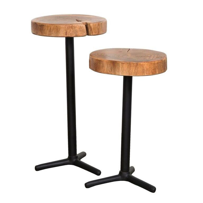 Moss Reclaimed Organic Martini Tables Set of 2