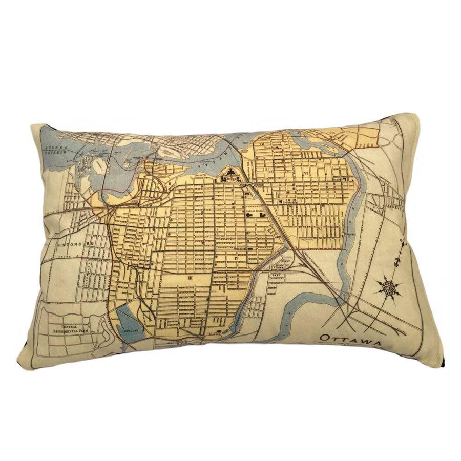 Ottawa Map Pillow