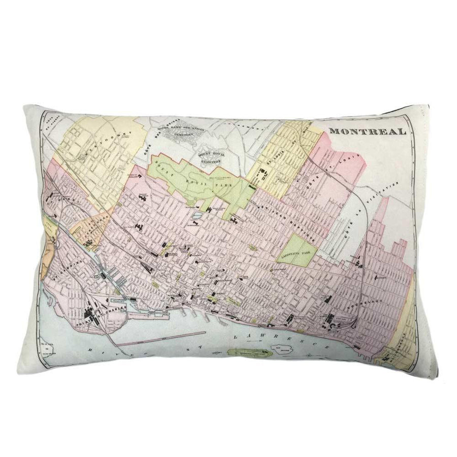 Montreal Map Pillow