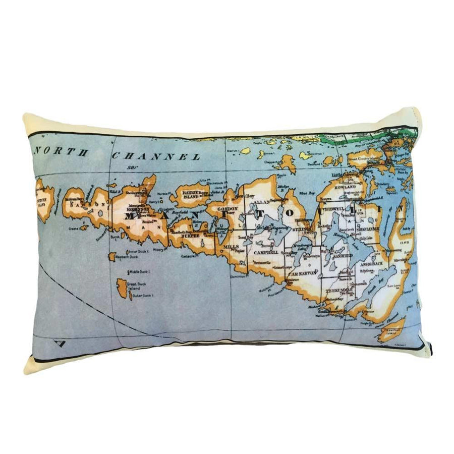 Manitoulin Island Map Pillow