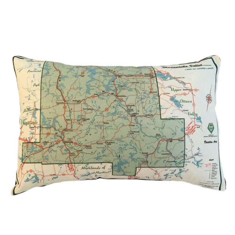 Bancroft Map Pillow