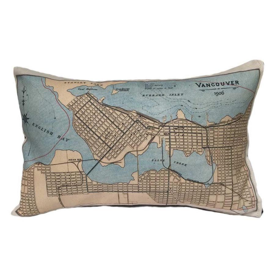 Vancouver Map Pillow