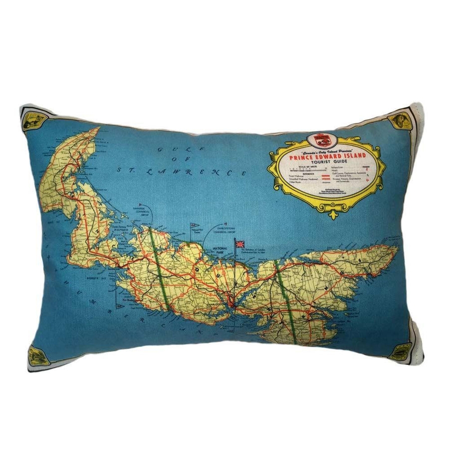 PEI Map Pillow