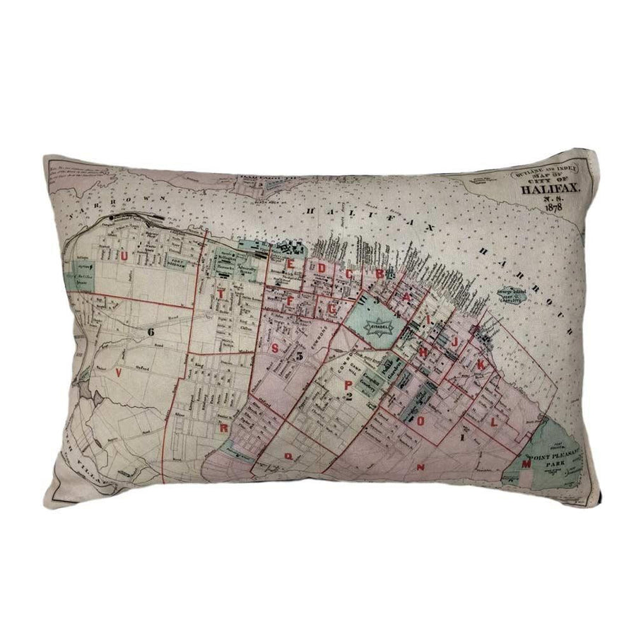 Halifax Map Pillow