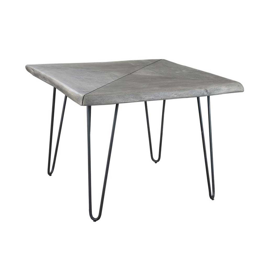 Organic Square Dining Table, Grey