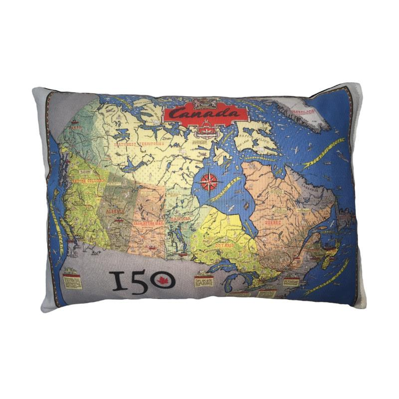Canada 150th Commemorative Map Pillow