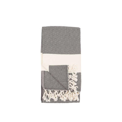 Pokoloko Diamond Turkish Towel, Carbon