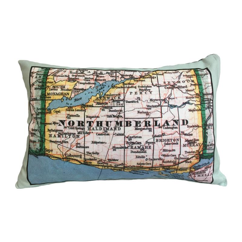 Northumberland Vintage Map Pillow