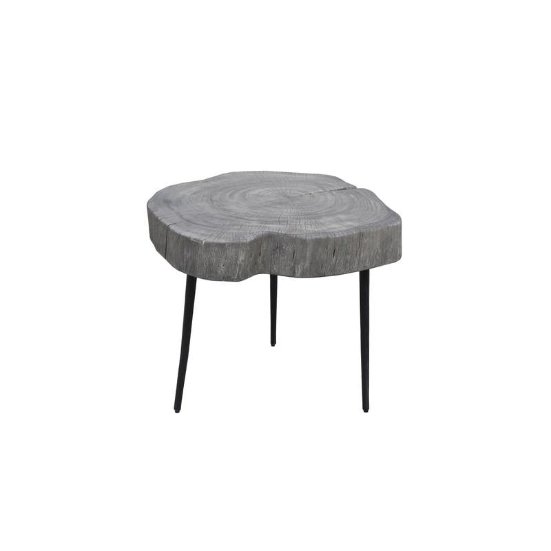 Orgranic Grey Trunk Side Table