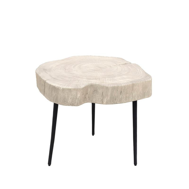 Organic White Trunk Side Table